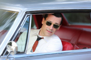 Don Draper is a man who can wear a pair of sunglasses