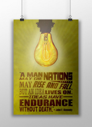 Idea Poster with JFK quote.