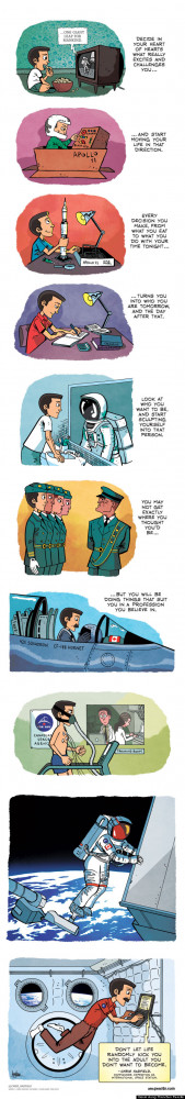 Chris Hadfield Quote Turned Into Cartoon By Zen Pencils