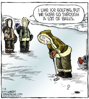 The downside of Ice Golfing