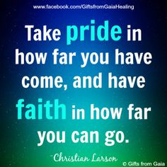 ... journey and be proud of what you have achieved ♥ Gifts from Gaia