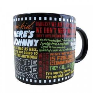 Classic Movie Lines Ceramic Coffee Mug Hollywood Film Quotes