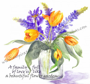 quotes about family vase with flowers