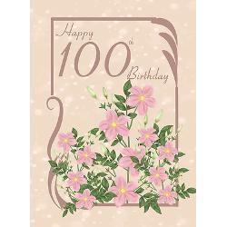 floral_100th_birthday_greeting_card.jpg?height=250&width=250 ...