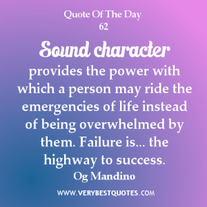 Sound character provides the power with which a person may ride the ...