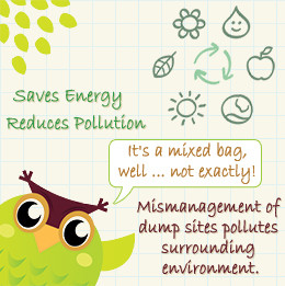 Positive and negative effects of recycling