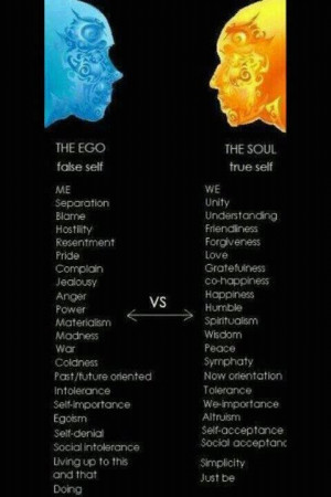 The Ego vs. The Soul. #Quotes #Inspiration