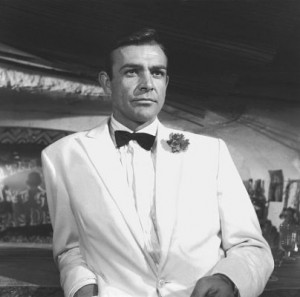 James Bond (played by Sean Connery) in Goldfinger (United Artists ...