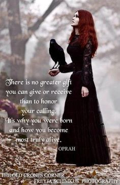 This is here because - pagan/goth chick and Oprah quote... just a ...