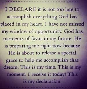 DECLARE...by Joel Osteen