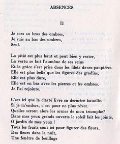 Paul Éluard • Absences (Capitale de la douleur) More