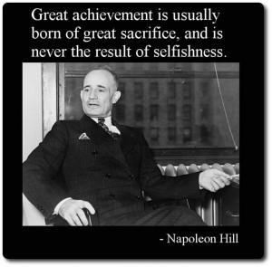 Napoleon Hill #quote on #success
