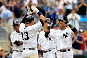 Alex Rodriguez and Derek Jeter - Oakland Athletics v New York Yankees