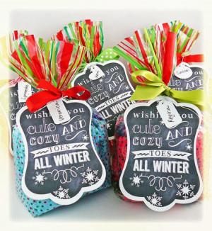 Christmas Socks Gift Tag Printable
