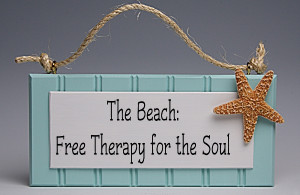 The Beach: Free Therapy For the Soul Sign