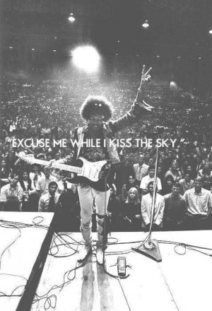 music quotes song rock hippie sky vintage psychedelic jimi hendrix ...