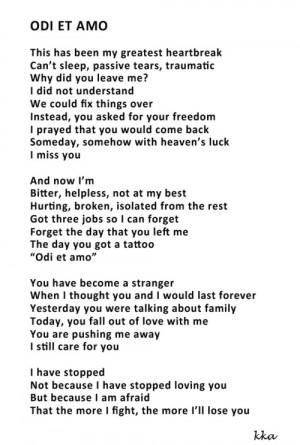 heartbreak poems tumblr