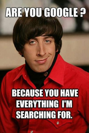 Categories » Film - Movies & TV » Wolowitz chat up lines