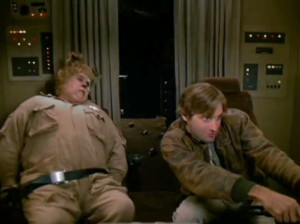 ... (Lone Starr) and John Candy (Barfolemew 'Barf') in Spaceballs (1987