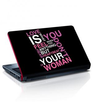 Quote Laptop Skin