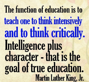 The function of education..
