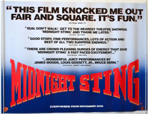 ... STING (1992) Quad Poster (Quotes Vers) James Woods, Louis Gossett Jr
