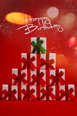 December birthday banner Image