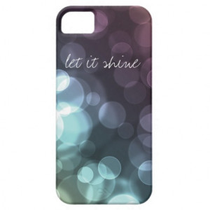Sparkly Bokeh Inspirational Quote Glowing Circles iPhone 5 Cover
