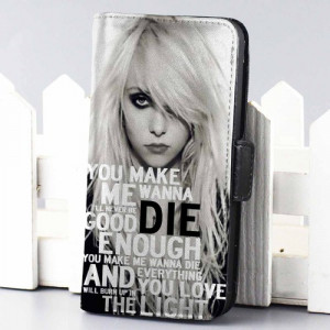 Home wallet case The Pretty Reckless Quotes wallet case for iphone 4 ...