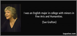 was an English major in college with minors in Fine Arts and ...