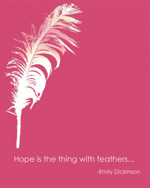 Hope Quote Feather Inspirational Positive Affirmation Typography Words ...