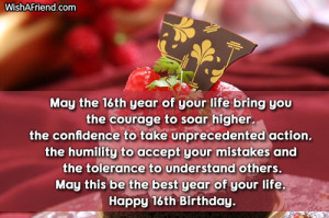 May the 16th year of