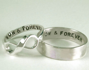 promise rings # promise # now and forever # infinite # infinity ...
