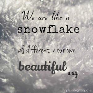 snowflake quote van de week