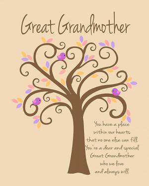 Great Grandmother/Grandchildren Tree Print by Doherty-Design