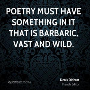 Denis Diderot Poetry Quotes