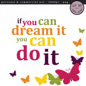 Inspirational Clip Art Digital clipart if you can