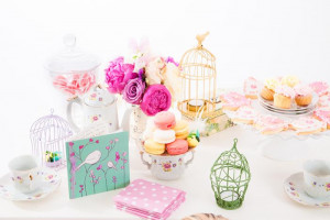 Vintage Rose Tea Party With