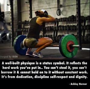 Fitness, dedication, hard work