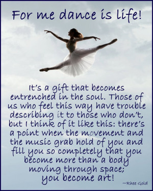 Rhee Gold Daily Inspiration: For me dance is life!