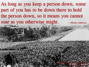 Marian Anderson Quote - © Jone Johnson Lewis, adapted from an image ...