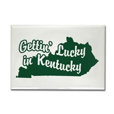 Gettin' Lucky in Kentucky Rectangle Magnet for