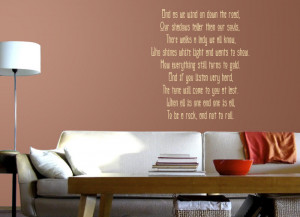 Cream Stairway To Heaven 2 (Led Zeppelin) Lyric wall decal above a ...