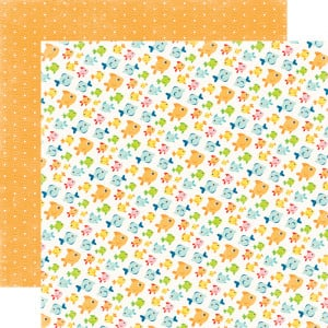 ... Park - A Perfect Summer Collection - 12 x 12 Double Sided Paper - Fish