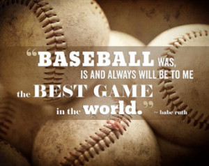 Baseball Quote Babe Ruth