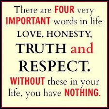 There are Four Very Important Words In Life Love,Honesty,Truth and ...