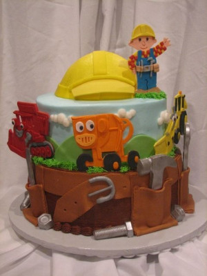Bob The Builder Cute Cake