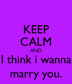 Want to Marry You Poems