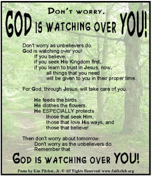 God is always watching over you