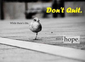 Motivational Wallpaper on Hope : Don't Quit…